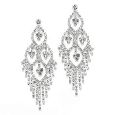 Mariell Open Marquise Rhinestone Prom or Wedding Earrings