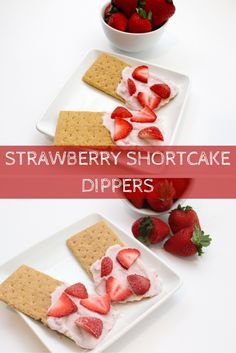 Snacking just got sweeter and healthier with strawberry shortcake dippers. Strawberry yogurt and graham crackers make one simple, kid-friendly snack that tastes just like strawberry shortcake! @MomNutrition