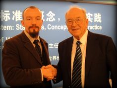 Thorsten Pattberg with multimillionaire Karl Schlecht, industrial genius and founding father of the recently established World Ethics Institute Beijing (WEIB) that will help China to leap to the forefront of global business ethics.