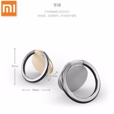 Original Xiaomi Metal Finger Ring Mobile Phone Smartphone Stand Holder For iPhone Samsung Smart Phone GPS MP3 Car Mount Stand