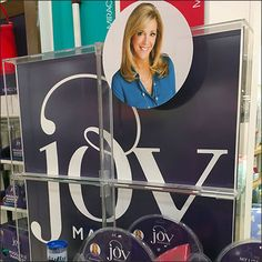Minimally, this Joy Mangano Colorful Cleaning Supplies Display perks up the shopping and outfitting aspect, if not the actual household cleaning itself. Visual Merchandising, Cleaning Supplies, Close Up, Household, Retail, Joy, Colorful, Purple, Purple Stuff
