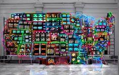 Electronic Superhighway: Continental U.S., Alaska, Hawaii.  Opera d'arte Artista: Nam June Paik Luogo: Smithsonian American Art Museum Data creazione: 1995 Genere: Astrattismo