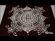 Rangoli design for sankranthi ! Simple Rangoli Border Designs, Easy Rangoli Designs Diwali, Rangoli Designs Latest, Rangoli Designs Flower, Free Hand Rangoli Design, Small Rangoli Design, Rangoli Patterns, Rangoli Designs With Dots, Beautiful Rangoli Designs