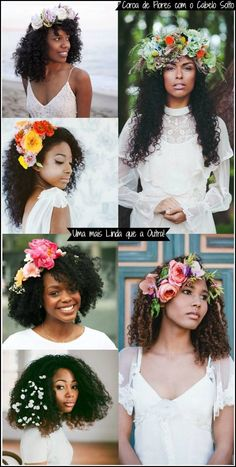 penteados-para-crespas-cacheadas-casamento-noivas-com-flores-2                             -- Found on http://wonderpiel.com/pages/10-most-remarkable-beauty-tips-ever