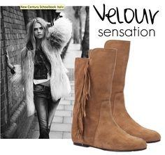 Jeans & shirt and Fabio Rusconi velour #boots at your feet. http://www.fabiorusconishop.it/nuova-collezione/mezzo-stivale-in-velour.html
