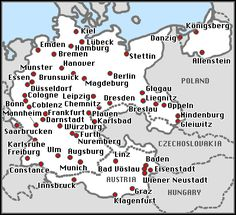 cities of destroyed synagogues during Kristallnacht 10 novembre 1938