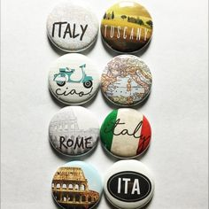 These are one inch flair buttons/pins. There are 8 flair in this set. Button Maker, Button Badge, Pin And Patches, Metal Pins, Cute Pins, Custom Buttons, Pin Badges, Cross Stitching, Spice Things Up