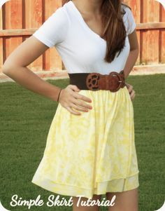 Sweet Verbena: A Very Simple Skirt Tutorial - it would be adorable with a couple of layers of charmeuse.