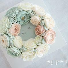 4th. Basic class 플라워케이크 by 메종올리비아  #플라워케이크 #플라워케이크클래스 #flowercake  #buttercreamcake #cake