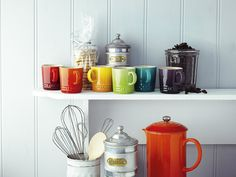 Le Creuset Stoneware Rainbow Espresso Mugs - Set of 6: Amazon.co.uk: Kitchen & Home