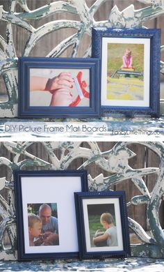 easy & cheap -->> DIY Picture Frame Mat Boards. #FancyLittleThings.com