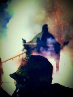 北港朝天宮 虎爺轎吃炮 Wordship Lord Tiger with firecrackers (boming the Lord tTiger Jiao)