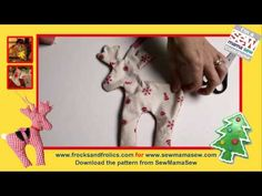How to sew a Reindeer - Christmas craft & free Patterns