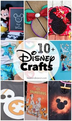 10+ DIY Disney Crafts - perfect to help you get ready for your next Disney trip!