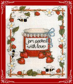 cross stitch - strawberry jam