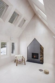 A standout fireplace that still fits in