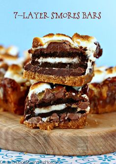 7-Layer-S'mores-Bars via cinnamonspiceandeverythingnice.com