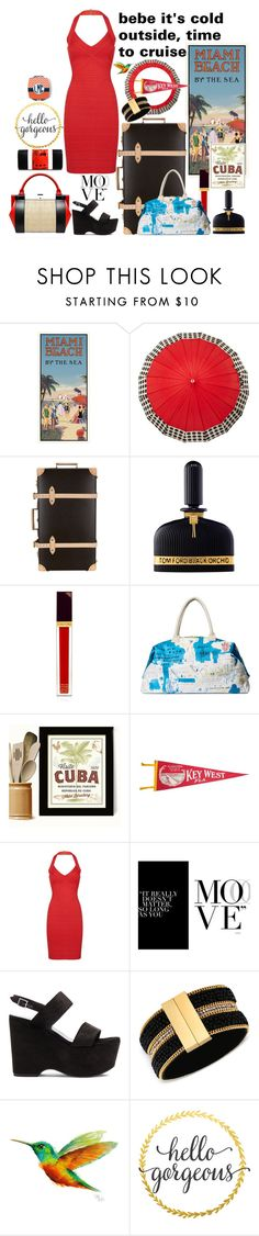 """The get away, it's like an escape, the happiness journey, we all need that sometimes"" by linda-caricofe ❤ liked on Polyvore featuring ShedRain, Globe-Trotter, Perrin, Tom Ford, Alice + Olivia, Hervé Léger, Yves Saint Laurent, GUESS and WALL"