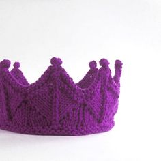 Purple Lace Knit Crown Headband for Dress Up by laceandcable, $36.00  LOVE LOVE LOVE!!!