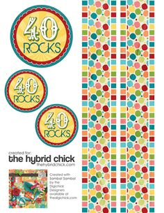 printable for 40th Birthday centerpieces and such