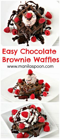 Thinking of a yummy breakfast or brunch dish? Here's the answer - CHOCOLATE BROWNIE WAFFLES. Fancy it as a dessert? No problem, just serve warm with some ice cream on top!