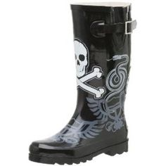 Chooka Women's Dueling Skulls Rainboot