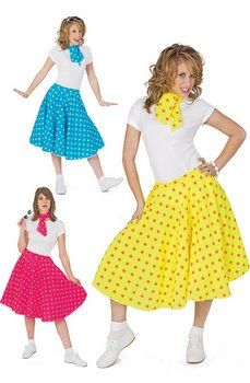 Adult Polka Dot 50s Sock Hop Skirt - 50's Sock Hop Costumes - Candy Apple Costumes