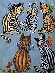 Louis Wain, Stripes to the Front.