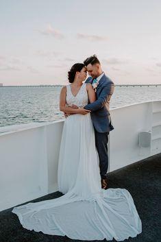 Yacht Wedding, Destination Wedding, Miramar Beach, Elopements, Wedding Dresses, Fashion, Bride Dresses, Moda, Bridal Gowns