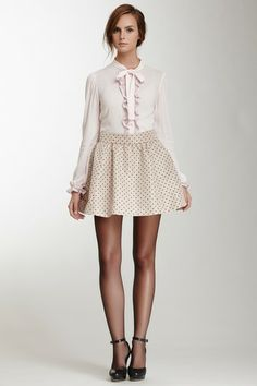 RED Valentino Polka Dot Skirt by Non Specific on @HauteLook
