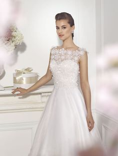 """Pia"" #WeddingDress by Novia D'Art, 2014 Collections. www.noviadart.com"