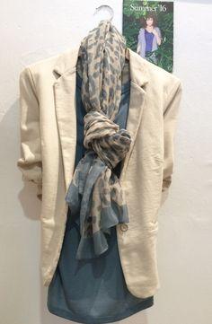 Sandwich jacket £69.95. Sandwich top £39.00. Sandwich scarf £29.00