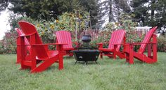 Adirondack Chair: Treated Pine Painted Red