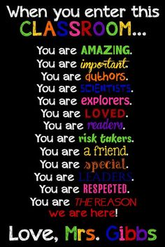 Classroom Decor Classroom Sign Teacher by LittleLifeDesigns -- I will definitely use this is my classroom because it gives each student a sense of value...that they are respected and loved in my classroom. It also creates a welcoming environment and that is something that I want to have in my classroom.