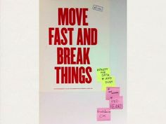 This poster was on the wall of the office. It was originally hung at Facebook, where Evan worked for a while.