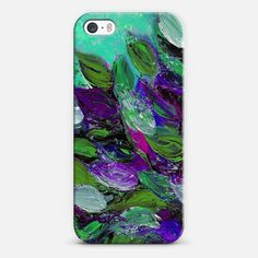 BLOOMING BEAUTIFUL 1 by Artist Julia Di Sano, Ebi Emporium on #Casetify @Casetify, Colorful Fine Art Abstract Acrylic Painting Textural Floral Garden Leaves Lovely Flowers Mint Seafoam Green Blue Purple #tech #device #case #cover #iPhone #SamsungGalaxy #whimsical #elegant #colorful #floral #flowers  Get $10 off using code: 5K7VFT