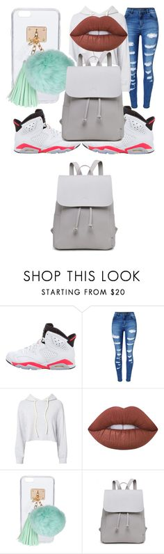 """SCHOOL DAY😜💪👅"" by angelmcmillan on Polyvore featuring NIKE, WithChic, Monrow, Lime Crime and Ashlyn'd"