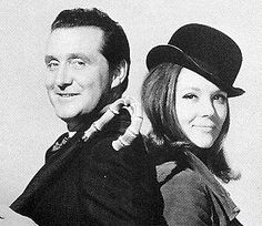 The Avengers -- Steed and Mrs. Peel.