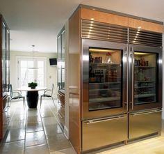 Glass Door Refrigerators: Ideas for a Transparently Brilliant Home. http://10rate.com has more refrigerator ideas.