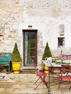 Porch of the farmhouse in Tuscany