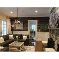 3 Reclaimed Barnwood Peel and Stick Wall Paneling in Mixed Gray/Brown Timber Walls, Wood Panel Walls, Wall Wood, Basement Renovations, Home Remodeling, Basement Ideas, Basement Plans, Basement Designs, Bathroom Remodeling