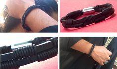 Pulseras de cuero negro pulsera para hombre cuero por TheSacredWays
