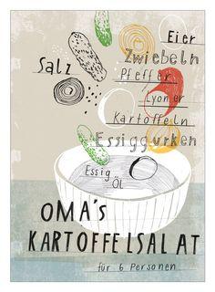 Oma's Kartoffelsalat - Design: Kathrin Frank