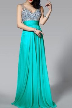 V-Neck Floor Length Misses Ruched Summer Evening Dress