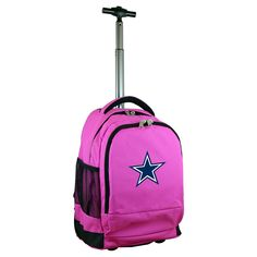 NFL Dallas Cowboys Premium Wheeled Backpack - Pink