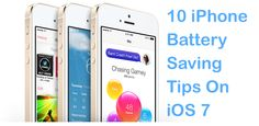 10 iPhone Battery Saving Tips On iOS 7 - http://VaultFeed.com/20-iphone-battery-saving-tips-ios-7/