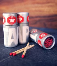 Unique Packaging Design on the Internet, Tap Matches #packaging #packagingdesign #design