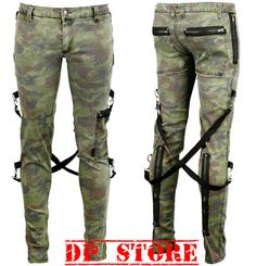 Tripp Gothic Chaos Tight Camo Army Cyber Steampunk Punk Pants Jeans Bondage Moto | eBay