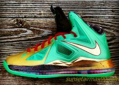 cheap for discount 537d8 afc41 Credit guarantee that all pictures in - kind shooting, please rest assured  to buy Nike LeBron X Jaded N Faded