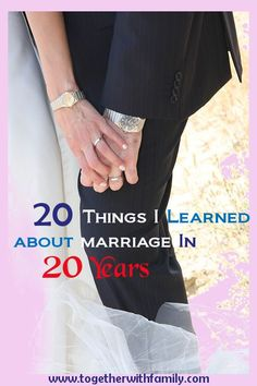20 things i have learned about marriage in 20 yrs!  Lots of great advice for marriage! marriage, marriage tips #marriage